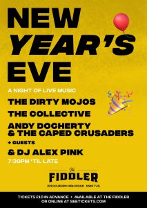New Year's Eve – A Night Of Live Music LIVE at Subterania, London